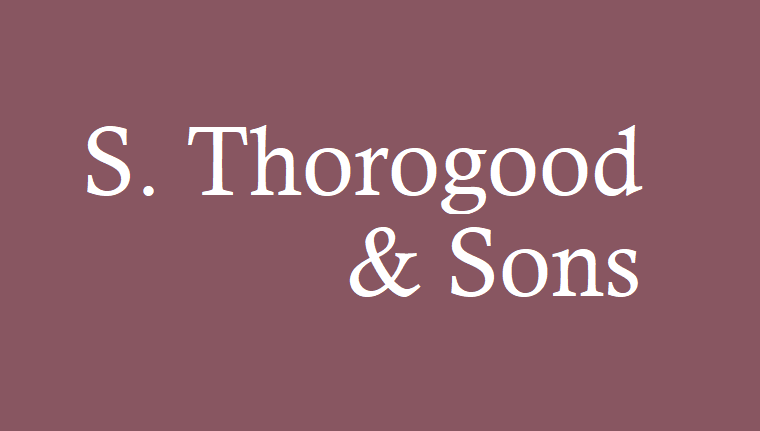 S. Thorogood & Sons logo