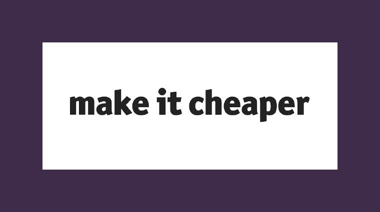Make it Cheaper logo